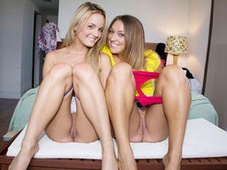 Deux meilleures amies essayent le sexe entre filles